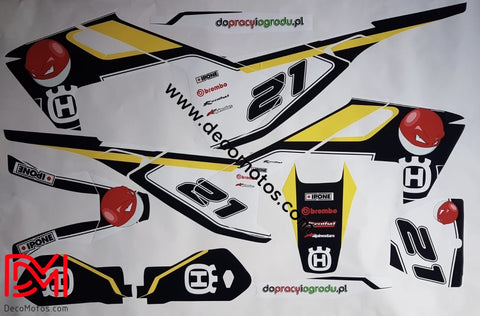 Kit Déco Husqvarna Fe / Fc Te Tc 2016-2018 Pokeball