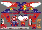 Kit Déco Husqvarna Sms / Wr Cr Te Apres 2006 Red Blue