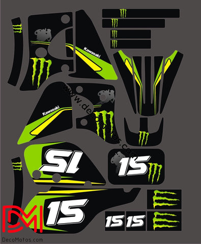 Kit Deco Kawasaki Kmx Green
