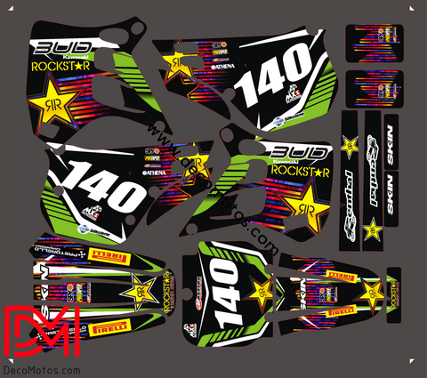 Kit Deco Kawasaki Kx 125 1990-1991 Bud Racing