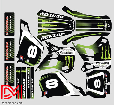 Kit Deco Kawasaki Kx 125 1990-1991 Monster