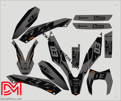 Kit Déco Ktm 690 Smc 2010 Black #2