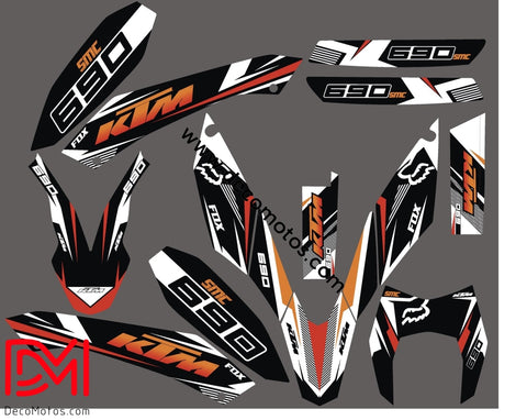 Kit Déco Ktm 690 Smc 2010 Fox