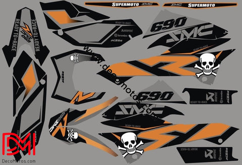 Kit Déco Ktm 690 Smcr 2012 Orange