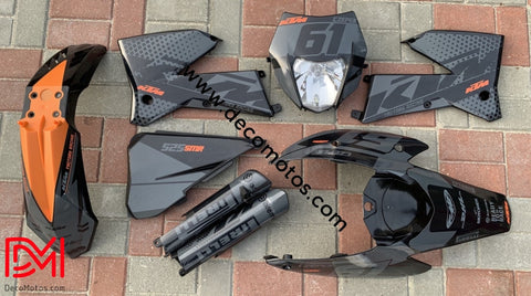 Kit Déco Ktm Exc 2004-2007 Black