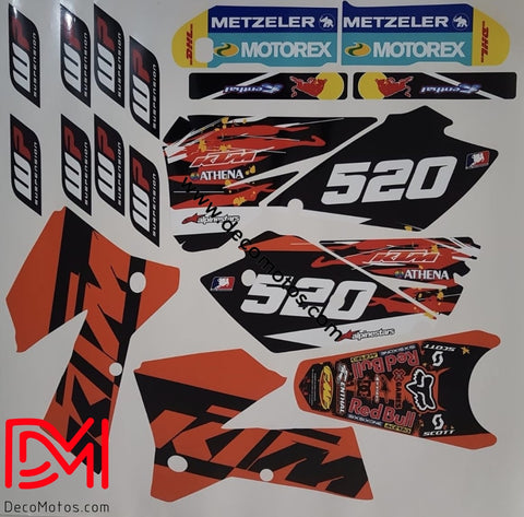 Kit Déco Ktm Exc 2004-2007 Original