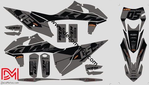 Kit Déco Ktm Exc 2017-2019 Grey