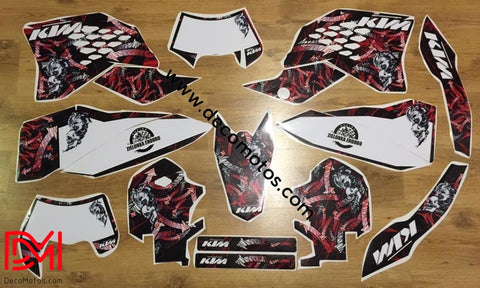 Kit Déco Ktm Exc Excf 2008-2011 Dark Red