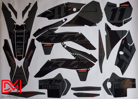 Kit Déco Ktm Sx Sxf 2013-2015 Black