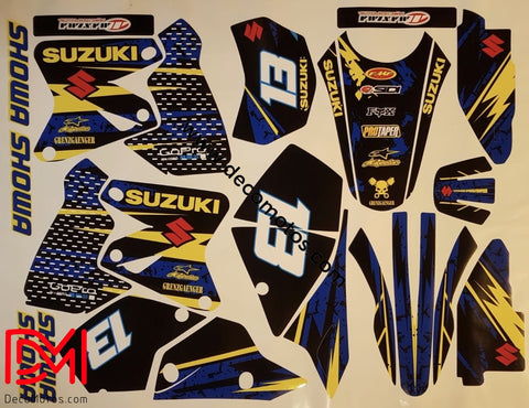 Kit Déco Suzuki Drz 400 Yellow Blue #2