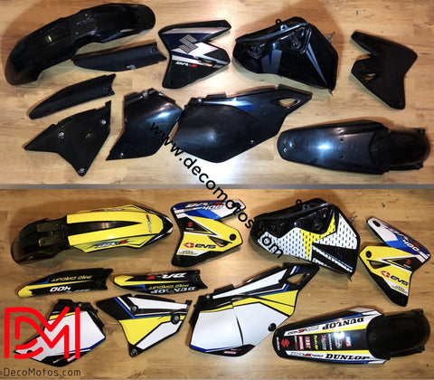 Kit Déco Suzuki Drz 400 Yellow Blue #3