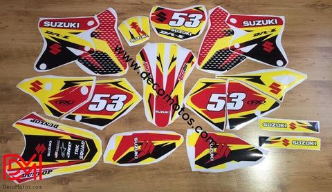 Kit Déco Suzuki Drz 400 Yellow Red