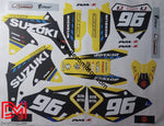 Kit Déco Suzuki Rmz 450 2008-2012 Yellow Blue