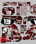 Kit Deco Yamaha Dtr 125 1992-2003 Triball Skunk Red