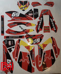 Kit Déco Yamaha Dtr Dtx 125 2004-2006 Red Rb