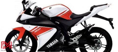 Kit Deco Yamaha R125 White Red