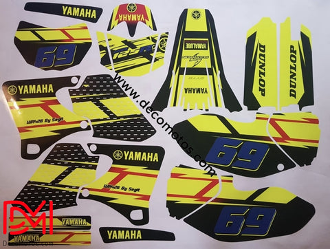 Kit Déco Yamaha Wr 250-400-426 F 1998-2002 (Non Fluo En Option)
