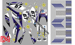 Kit Déco Yamaha Wrx 125 Blue Yellow