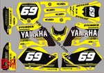 Kit Déco Yamaha Yz 125-250 2002-2012 Jaune 2 (Non Fluo En Option)