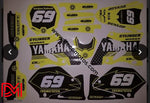 Kit Déco Yamaha Yz 125-250 2002-2012 Jaune (Non Fluo En Option)
