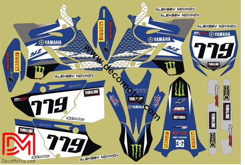 Kit Déco Yamaha Yz 125-250 2015-2016 Monster