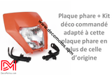 Plaque Phare Ktm Exc 2017 Orange / Oui
