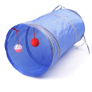 Collapsible Play Tunnel with Hanging Ball