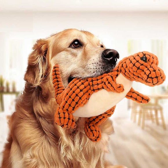 Quirky Squeaky Plush Dog Toy