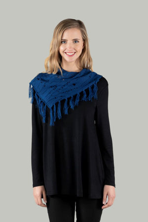 Kelsey Knit Scarf Snood - Mid Blue