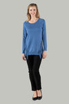 Talya Tassle Knit Jumper - French Blue