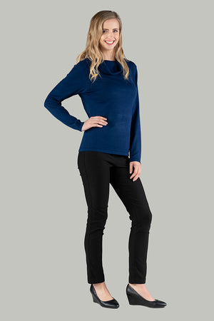 Rosanna Roll Neck Pull Over - Navy
