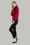 Rosanna Roll Neck Pull Over - Burgundy