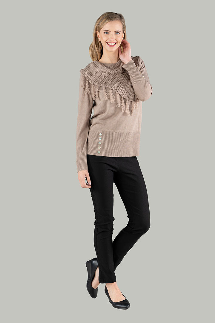Scarlett Scarf Jumper - Natural