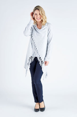Two Way Wool Wrap - Silver