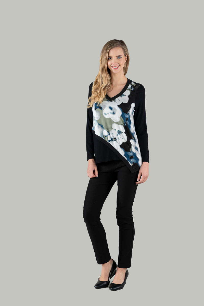 Vesna V-Neck Print Top