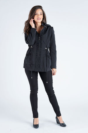Holly Hooded Jacket - Black