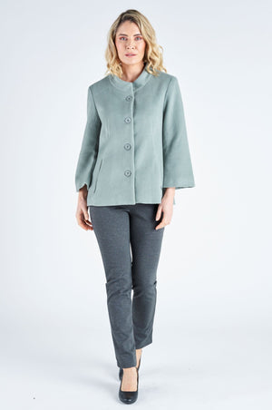 Yara Cropped Coat - Sage