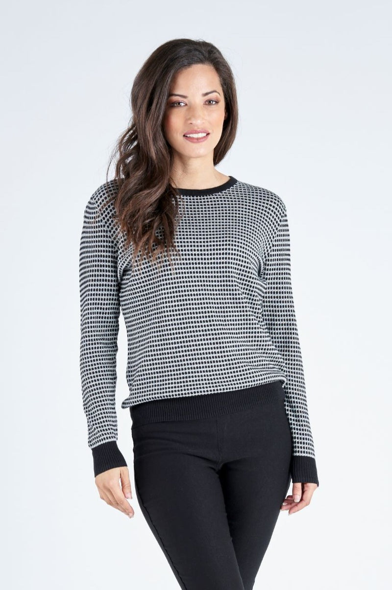 Kinsley Knit Monochrome Top