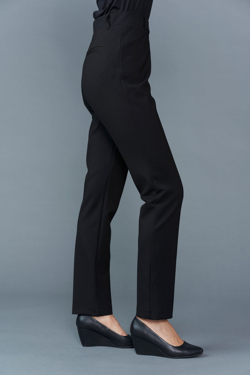 Zelda Zip Pocket Full Length Pull on Ponte Pant