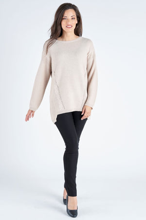Autumn Knit Loose Cut Jumper - Hazelnut