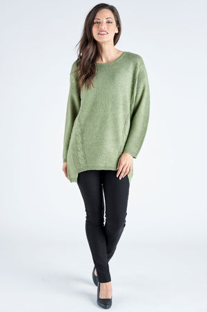 Autumn Knit Loose Cut Jumper - Sage