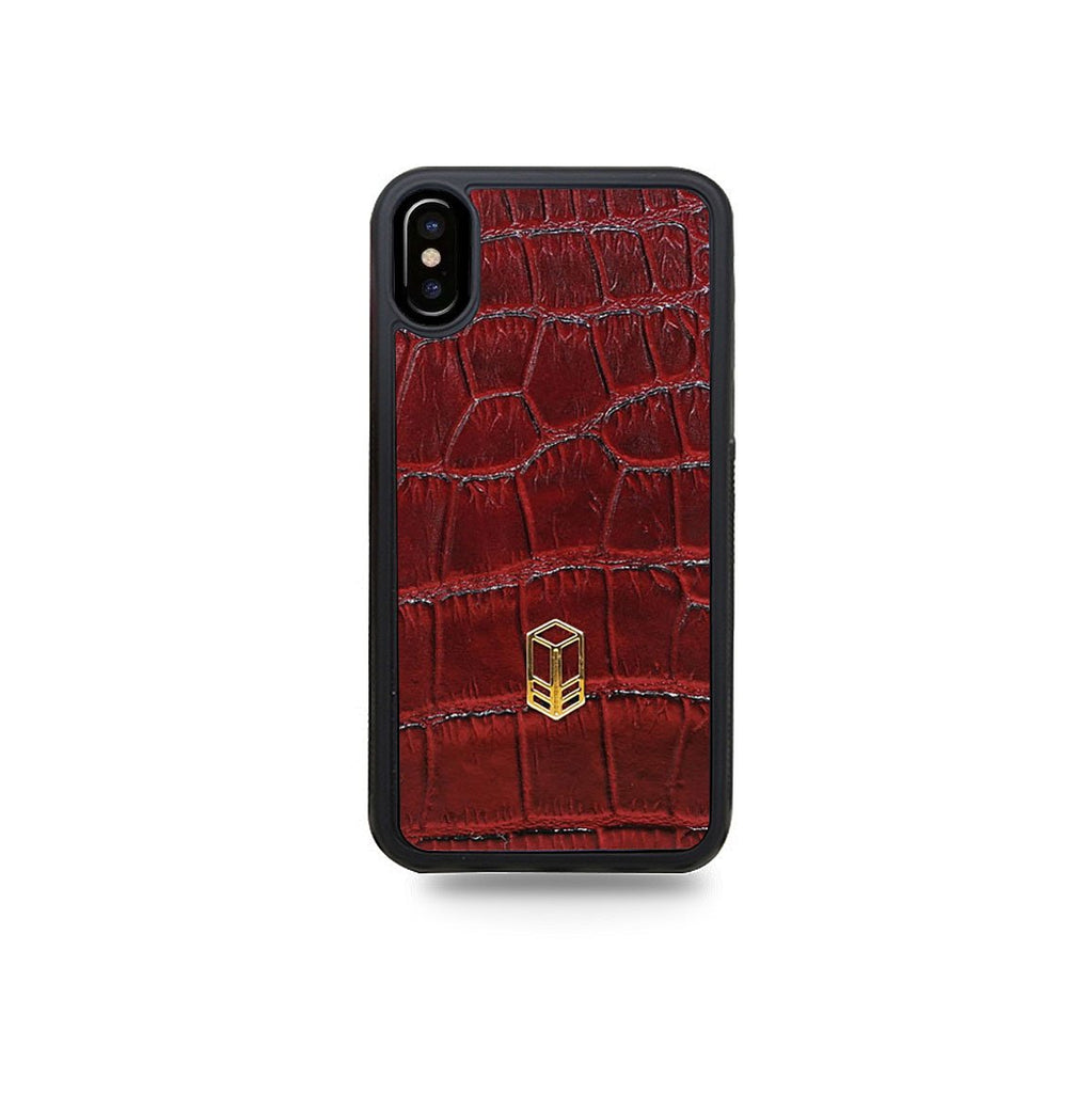 Red Crocodile iPhone Case