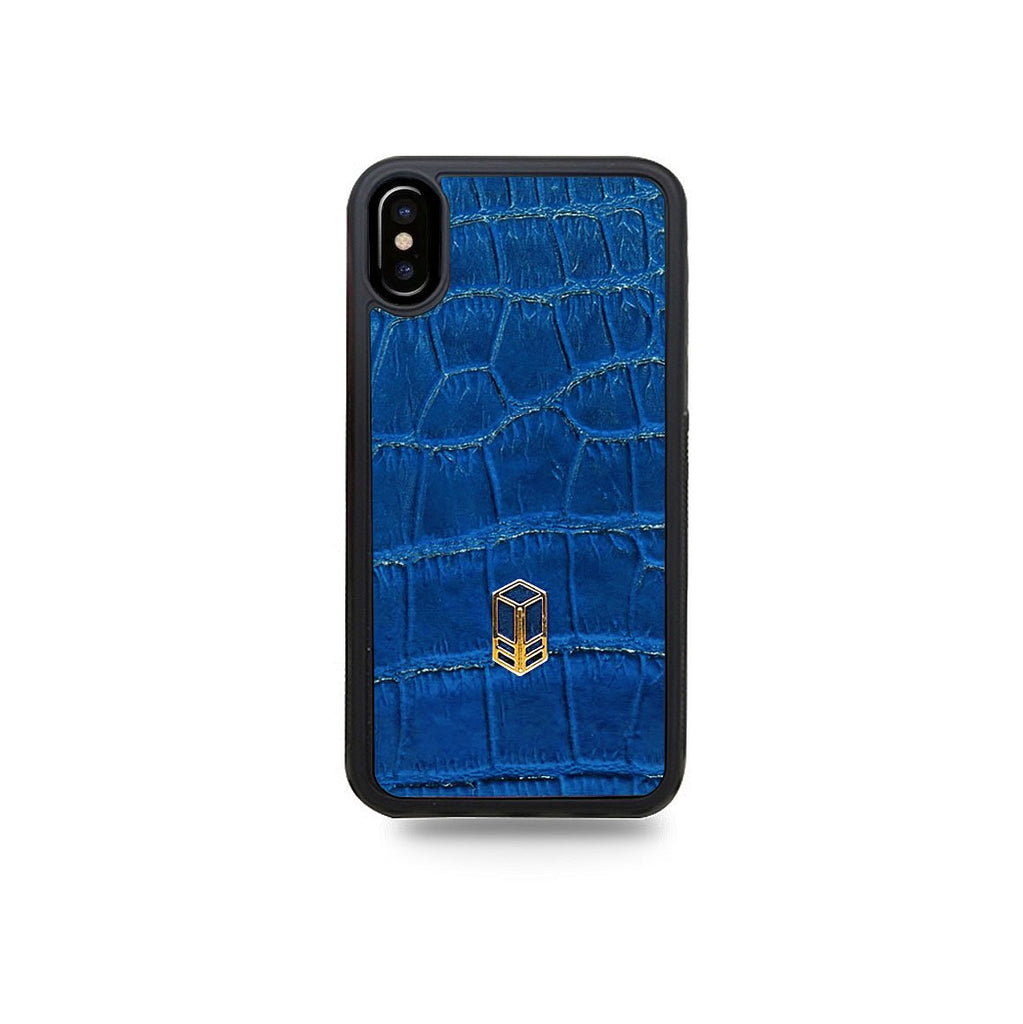 Royale Blue Alligator iPhone Case