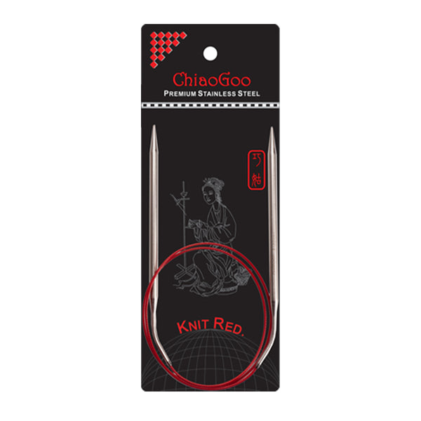 ChiaoGoo - Aiguilles circulaires fixes RED LACE 32'' (80 cm)