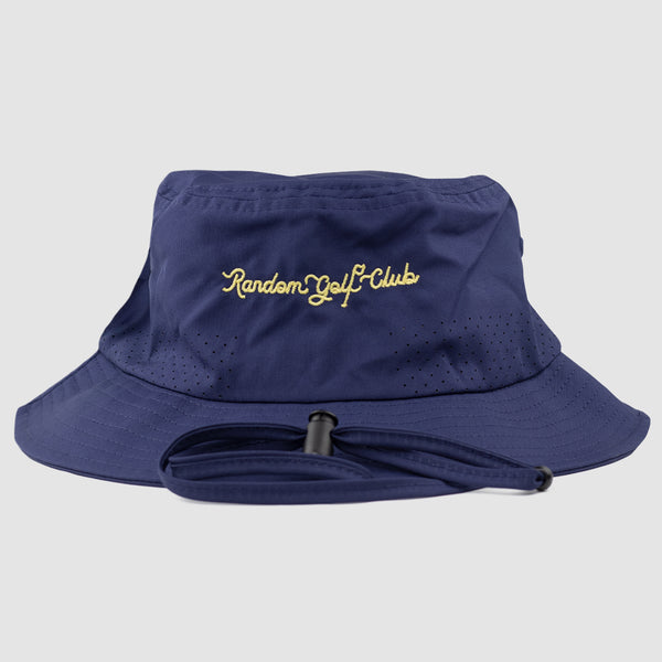 RGC Script Bucket Hat (Navy/Yellow)