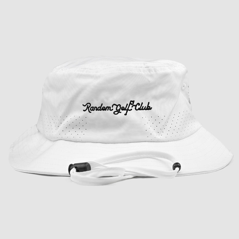 RGC Script Bucket Hat (White/Black)