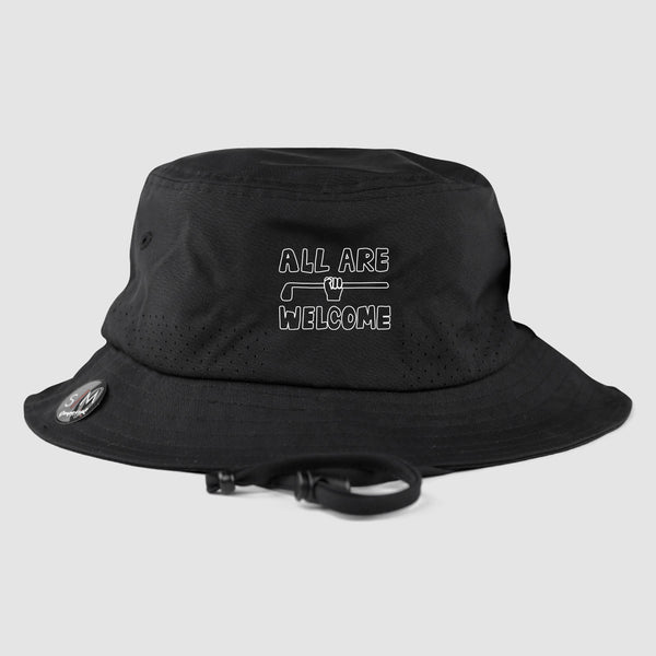 All Are Welcome Bucket Hat (Black)