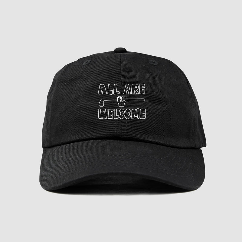 All Are Welcome Dad Hat (Black) - Pre-order