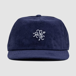 Monogram Hat (Navy Corduroy)