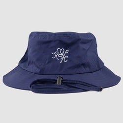 Monogram Bucket Hat (Navy)